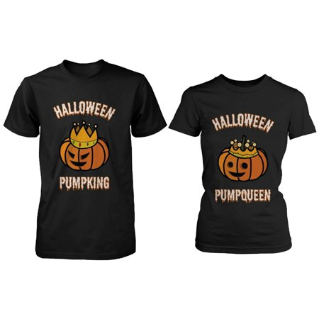 Is Halloween Horror Nights Good This Year (Halloween PumpKing and PumpQueen Matching Couple Shirts Perfect for Horror)