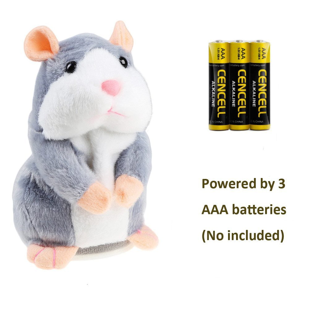 APUPPY Mimicry Pet Talking Hamster Repeats What You Say Plush Animal Toy Electronic Hamster Mouse for Boy and Girl Gift,3 x 5.7 inches Brown