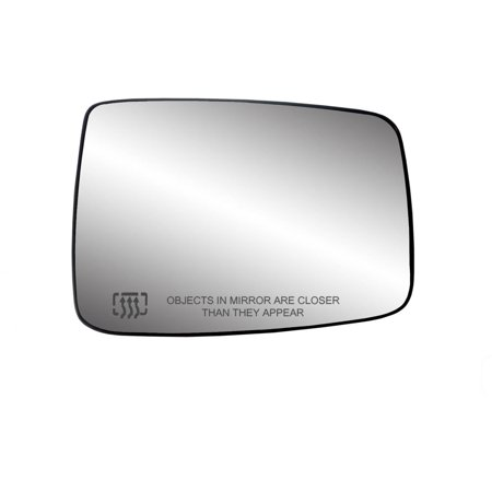 - 30244 - Fit System Passenger Side Heated Mirror Glass w/ backing plate, Dodge Ram Pick-Up 1500 09-18, Ram Pick-Up 2500, 3500 10-18, 6 3/ 8
