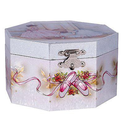 "Ballerina Music Jewelry Box, Plays ""Swan Lake"", by Broadway Gifts"