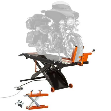 - Air OP Heavy Duty ProLift 1,500 lb Motorcycle Scissor Lift Table