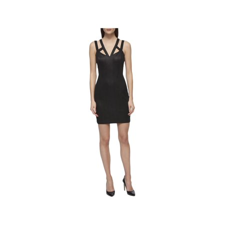 Guess Ladies Strap - Guess Womens Chevron Cage Straps Clubwear Dress