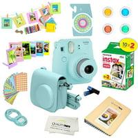 Fujifilm Instax Mini 9 Camera - Ice Blue + Fujifilm Instax mini 9 Instant Films 2-Pack = 20 Sheets + A 15 PC Massive Deluxe Accessory Kit Bundle for Fujifilm instax mini 9 Instant Camera