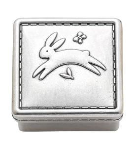 Reed & Barton Reed and Barton Quilted Rabbit Pewter Keepsake Box