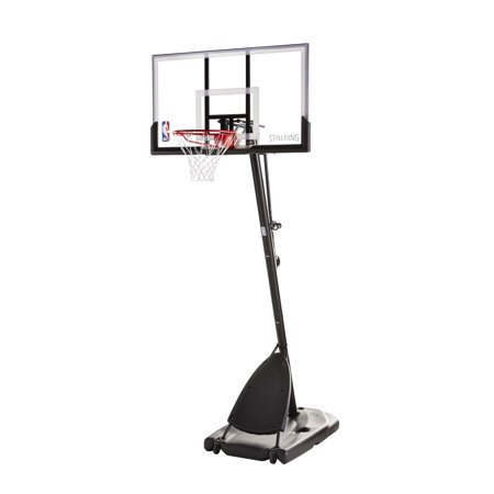 "Spalding NBA 54"" Portable Angled Basketball Hoop with Polycarbonate Backboard"