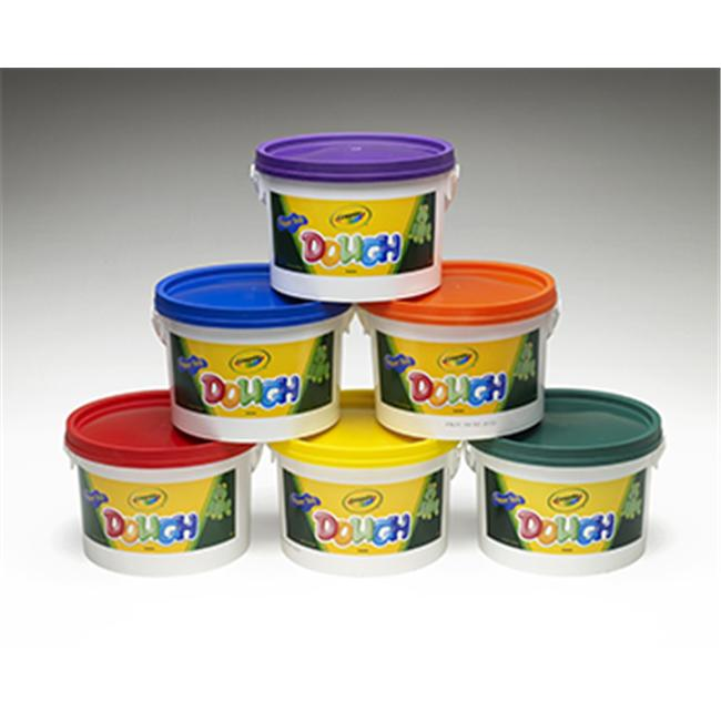 CRAYOLA LLC FORMERLY BINNEY & SMITH BIN570016 CRAYOLA DOUGH SET OF 6 TUBS RED ORANGE GREEN YELLOW PURPLE BLUE