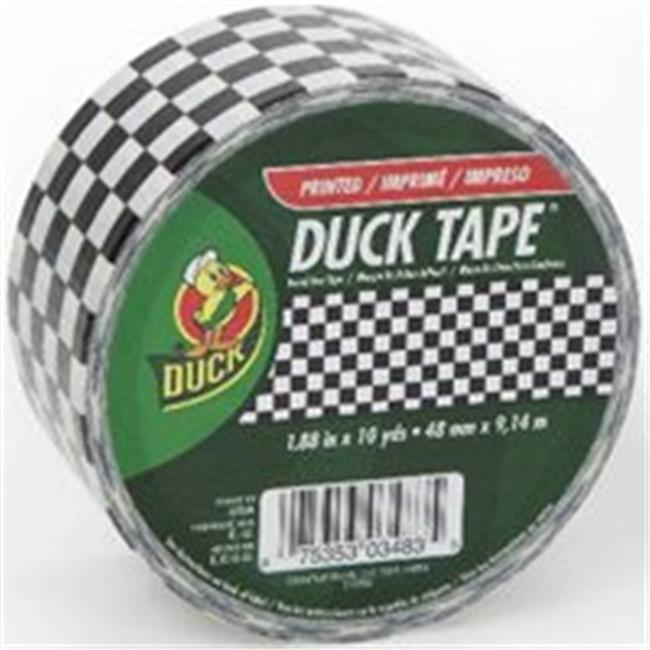 Shurtech Brands 280322 1.88 In. x 10 Yards Black & White Duck Tape