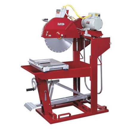 "MK DIAMOND PRODUCTS 160646 Block Saw,230V,3-Phase,20"",9 HP G4415769"