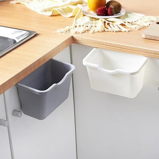 Manfiter Small Trash Can Hanging Waste, Trash Can For Kitchen Cabinet Door Wastebasket