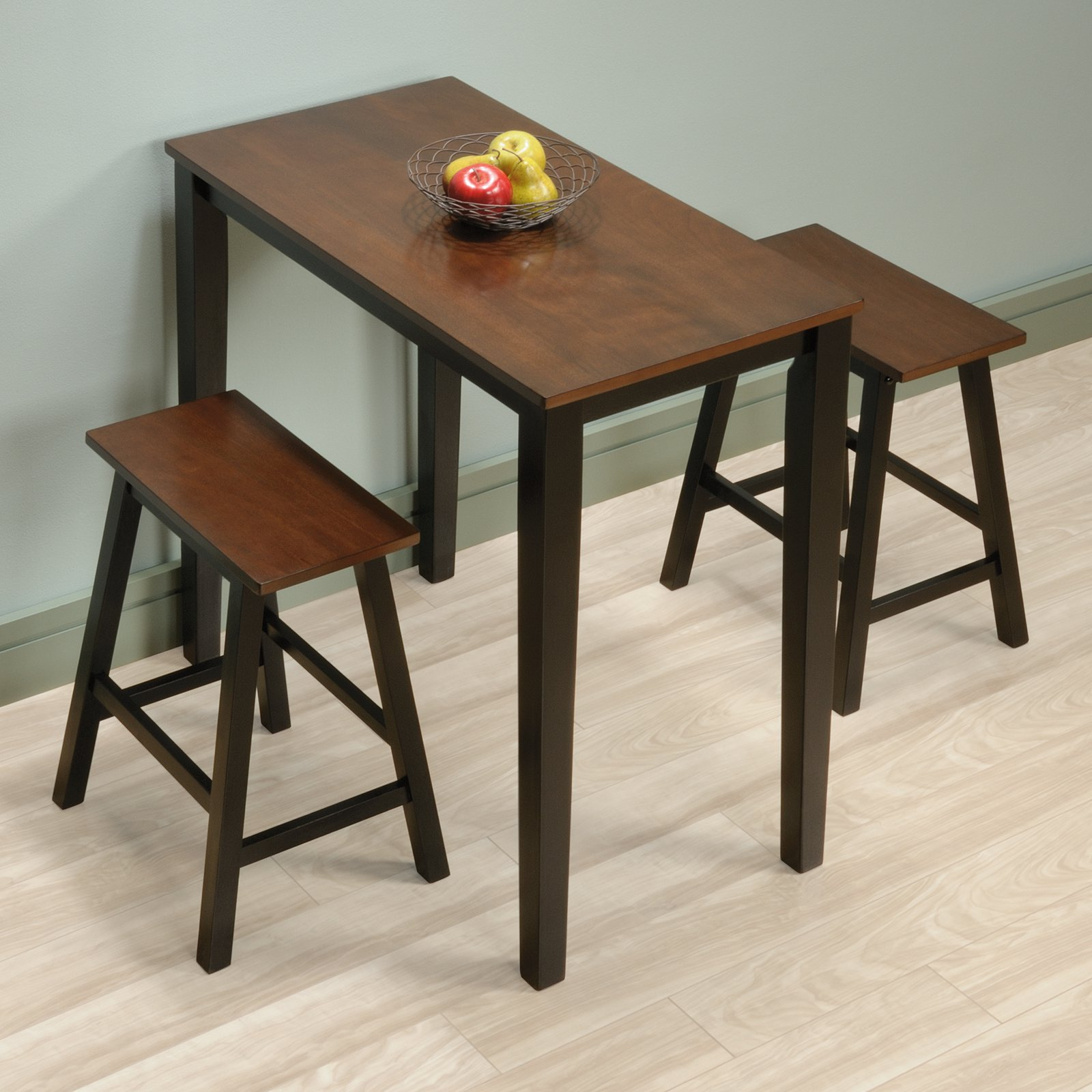 Pleasing Sauder Beginnings 3 Piece Counter Height Dining Set Cherry Finish Beutiful Home Inspiration Truamahrainfo