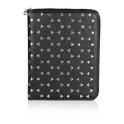 Alexander McQueen Unisex Studded Leather iPad Case Black
