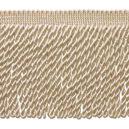 Style Fringe - 6 Inch Long Ivory / Ecru Bullion Fringe Trim, Basic Trim Collection, Style# BFS6 Color: A2, Sold By the Yard