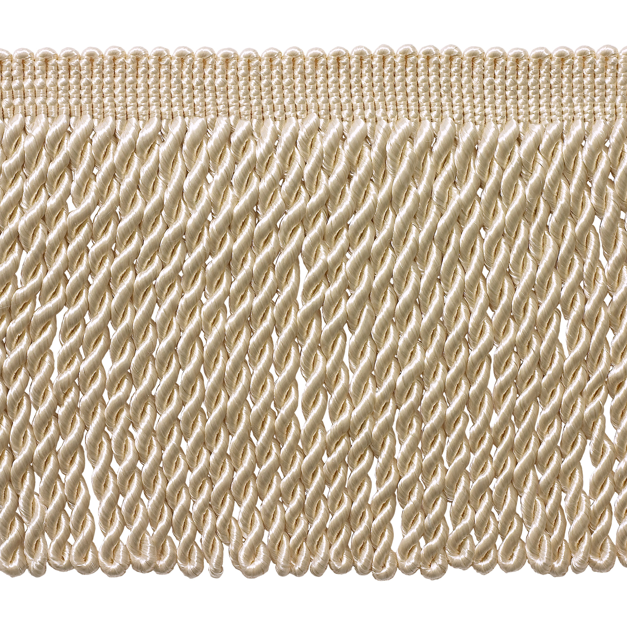 5 Yard Value Pack - 6 Inch Long Ivory / Ecru Bullion Fringe Trim, Basic Trim Collection, Style# BFS6 Color: A2 (15 Ft / 4.5 Meters)