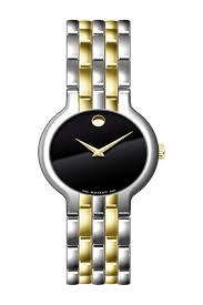 Veturi Black Dial Mens Two- Tone Watch 0606932