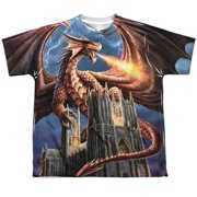 Anne Stokes - Dragons Fury (Front/Back Print) - Youth Short Sleeve Shirt - Medium