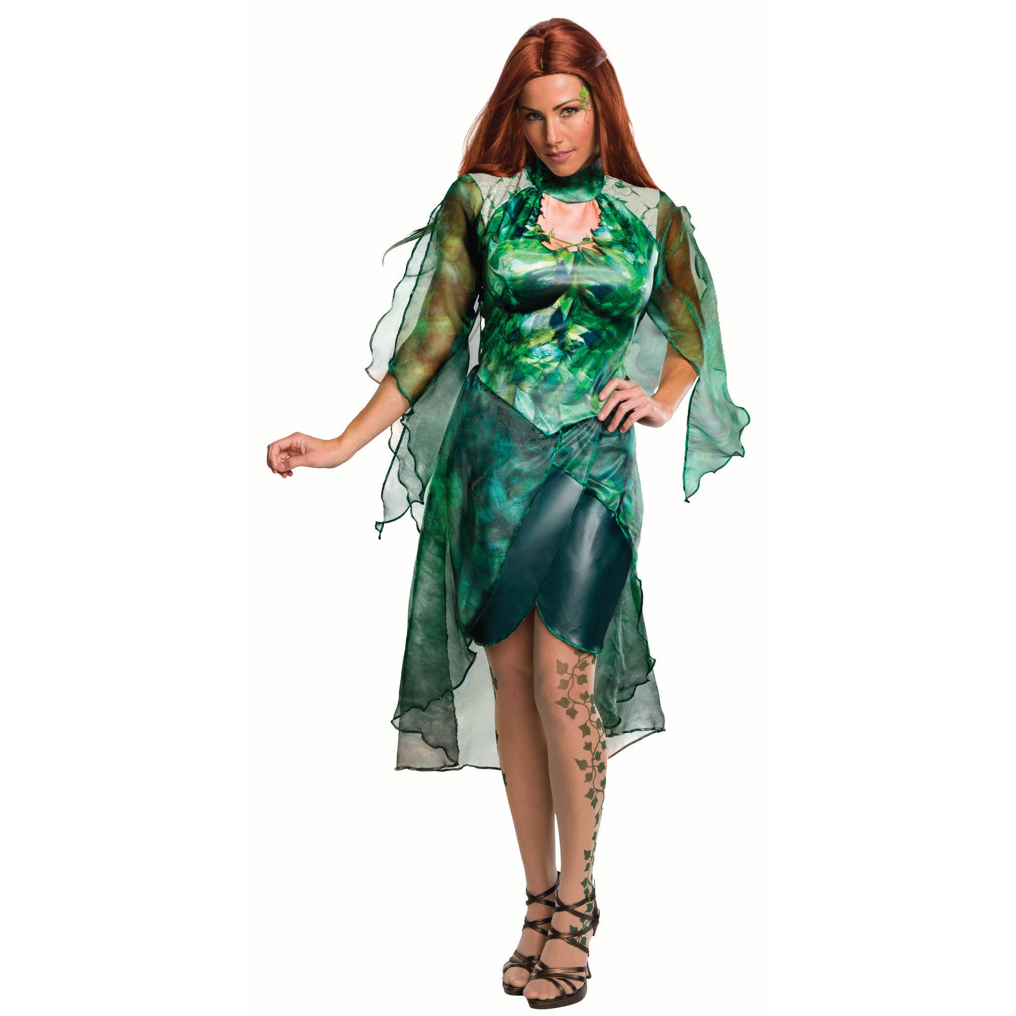 73cb890e2c3 Poison Ivy Adult Dress Halloween Costume   eBay