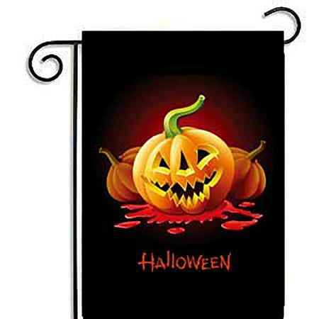 Halloween Dental Cartoons (30*45CM Cartoon Pumpkin Garden Flag Weatherproof Halloween Party Banners Home Decoration)