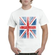 Mens Union Jack British Flag Short Sleeve T-Shirt