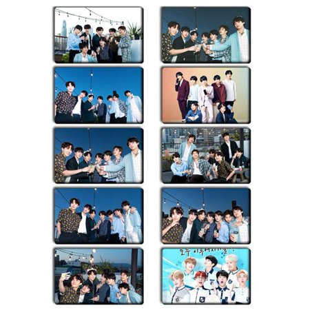 Fancyleo KPOP 10 Pcs BTS Bangtan Boys Photo Card Stickers Lomo Cards Stickers Set Best Gift