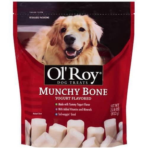 Ol' Roy: Munchy Bone Yogurt Flavored Dog Treats, 21.60 oz
