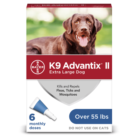 K9 Advantix II Flea and Tick Treatment for Extra Large Dogs, 6 Monthly Treatments Advantix Red Flea Treatment