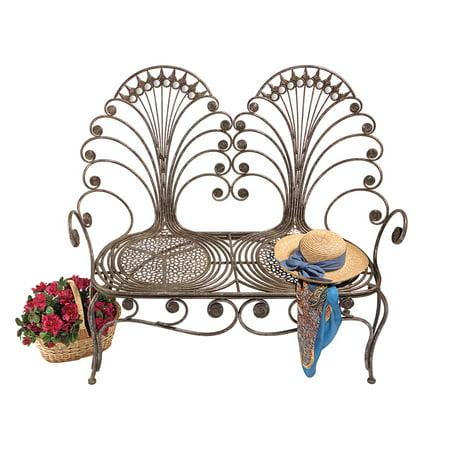 Outstanding Design Toscano Grand Peacock Metal Garden Loveseat Bench Andrewgaddart Wooden Chair Designs For Living Room Andrewgaddartcom