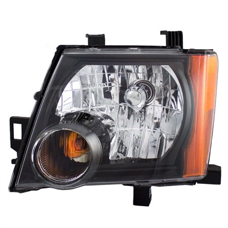 Nissan Xterra Replacement Headlight - BROCK Halogen Combination Headlight Headlamp with Black Bezel Driver Replacement for 05-15 Nissan Xterra 26060-ZL00A