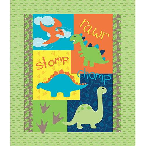 Springs Creative Nursery Dino Land Panel, Fabric By the Yard