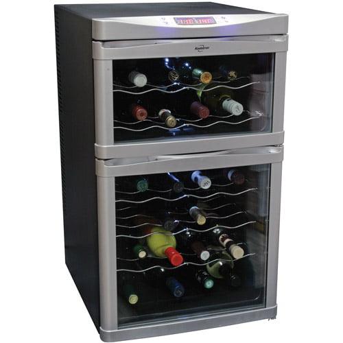 Koolatron 24-Bottle Dual-Zone Wine Cellar, Black