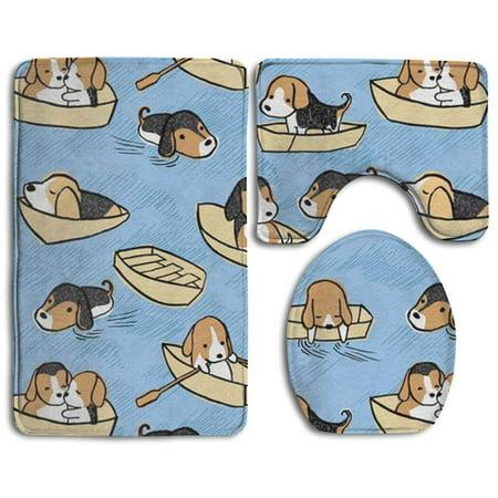 XDDJA Happy Christmas 3 Piece Bathroom Rugs Set Bath Rug Contour Mat and Toilet Lid Cover - image 2 de 2