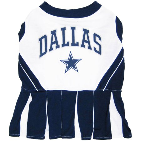 Pets First NFL Dallas Cowboys Cheerleader, 3 Sizes Pet Dress Available. Licensed Dog Outfit