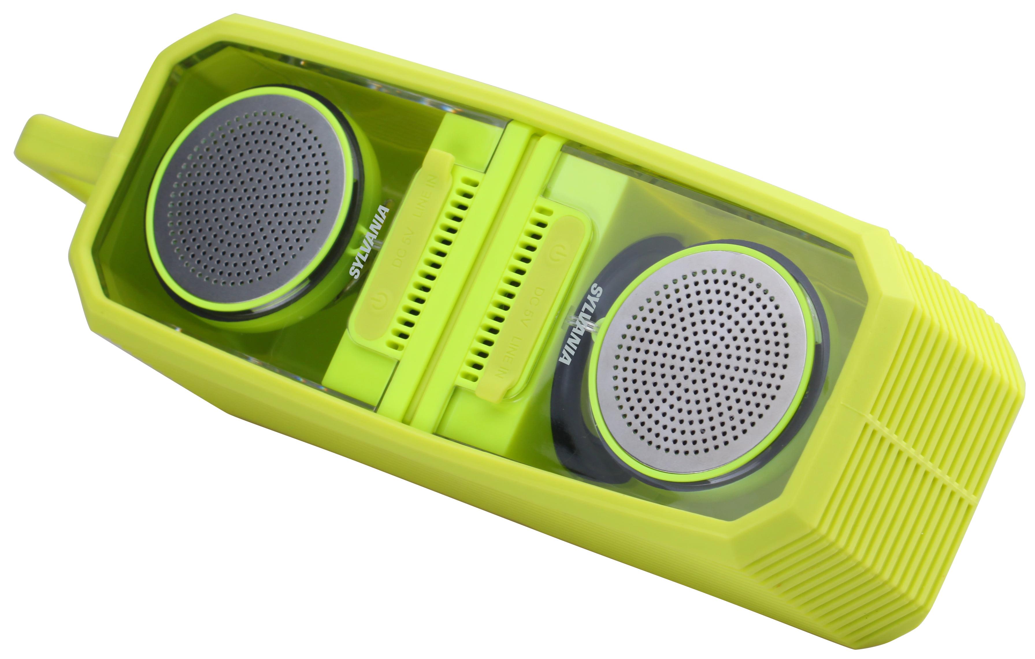 Sylvania TWS Magnetic Bluetooth(r) Speaker Pair, Silicon Wrap, Citrus,  (SP10) - Walmart.com