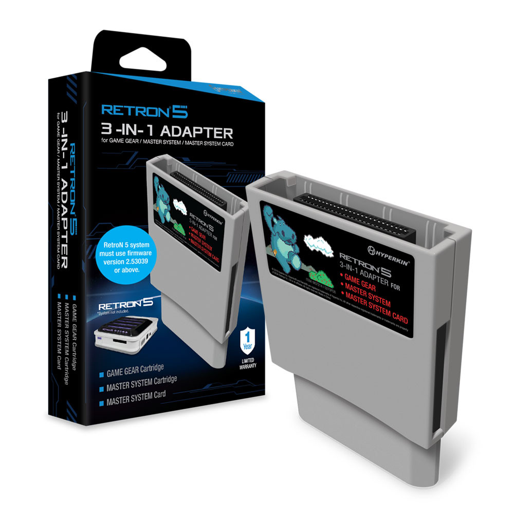 RetroN 5 3-in-1 Adapter for Game Gear, Master System and Master System Card by Hyperkin