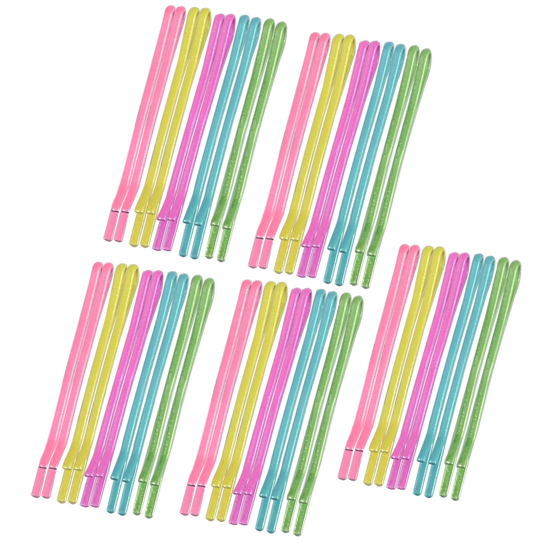 Unique Bargains Women Hairstyle Metal 5 Colors Bobby Pin Hair Clips 50 Pieces