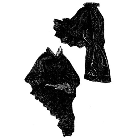 Sewing Pattern: 1873 Cashmere Mantelet with Hood Pattern](Hooded Cloak Pattern)