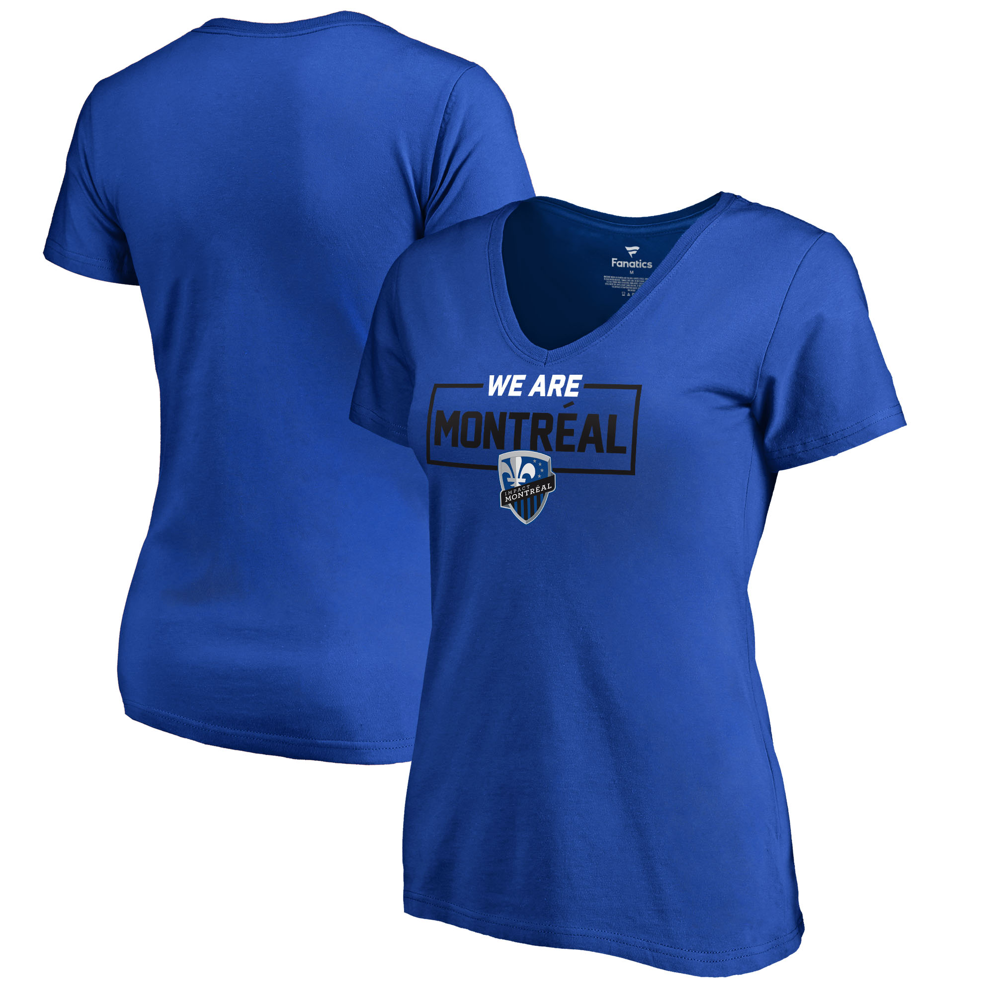 Montreal Impact Fanatics Branded Women's We Are V-Neck T-Shirt - Blue