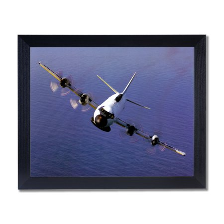 - EP-3E Aries Navy Jet Airplane Wall Picture Black Framed Art Print
