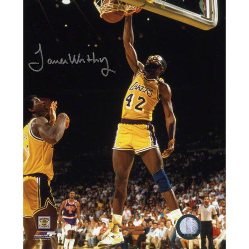 NBA - James Worthy Los Angeles Lakers Autographed 8x10 Photograph