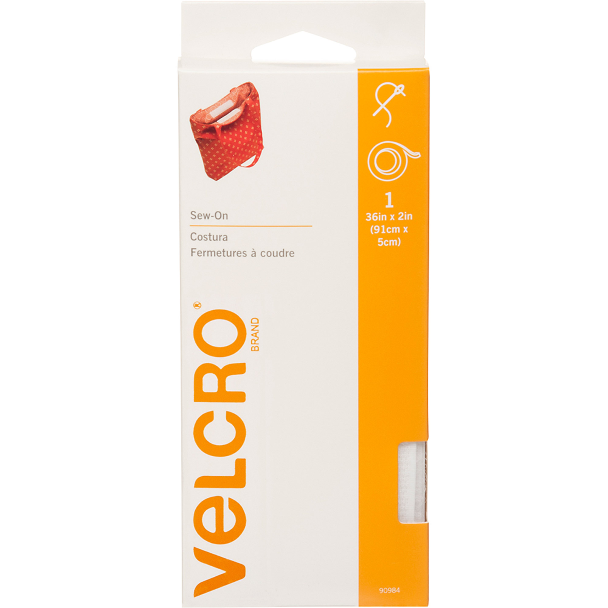 VELCRO® Brand Sew On 36in x 2in Roll, White