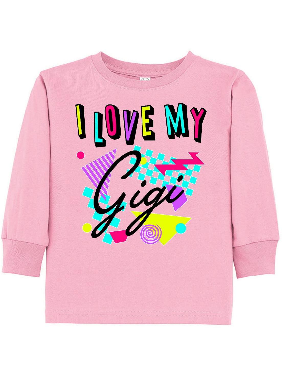 I Love my Gigi- 80s retro style Toddler Long Sleeve T-Shirt