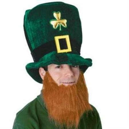 Plush Leprechaun Hat w/ Beard (Leprechaun Beard)