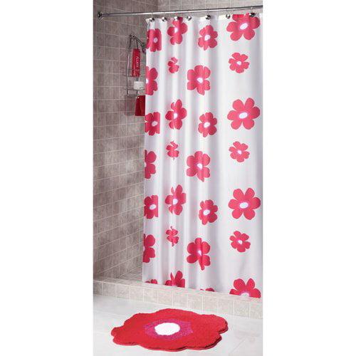 InterDesign Shower Curtain, Poppy
