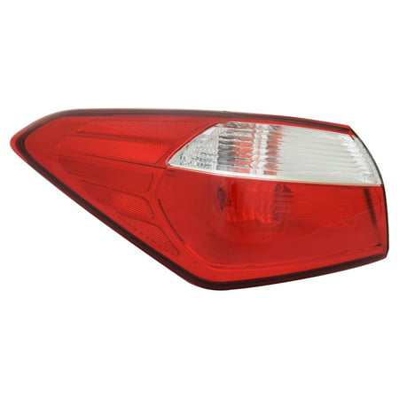 TYC 11-6604-00-1 Left Outer Tail Light Assembly for 14-16 Kia Forte KI2804112