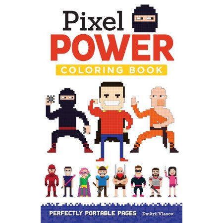 - Pixel Power Adult Coloring Book
