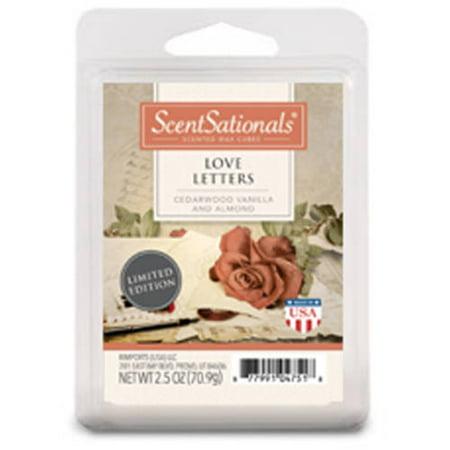 ScentSationals Wax Cubes Love Letters