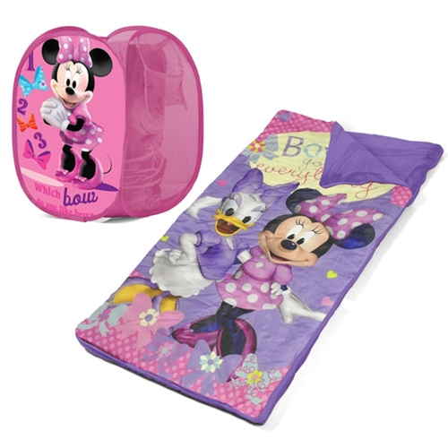 Disney Minnie Mouse Sleeping Bag and Hamper Set