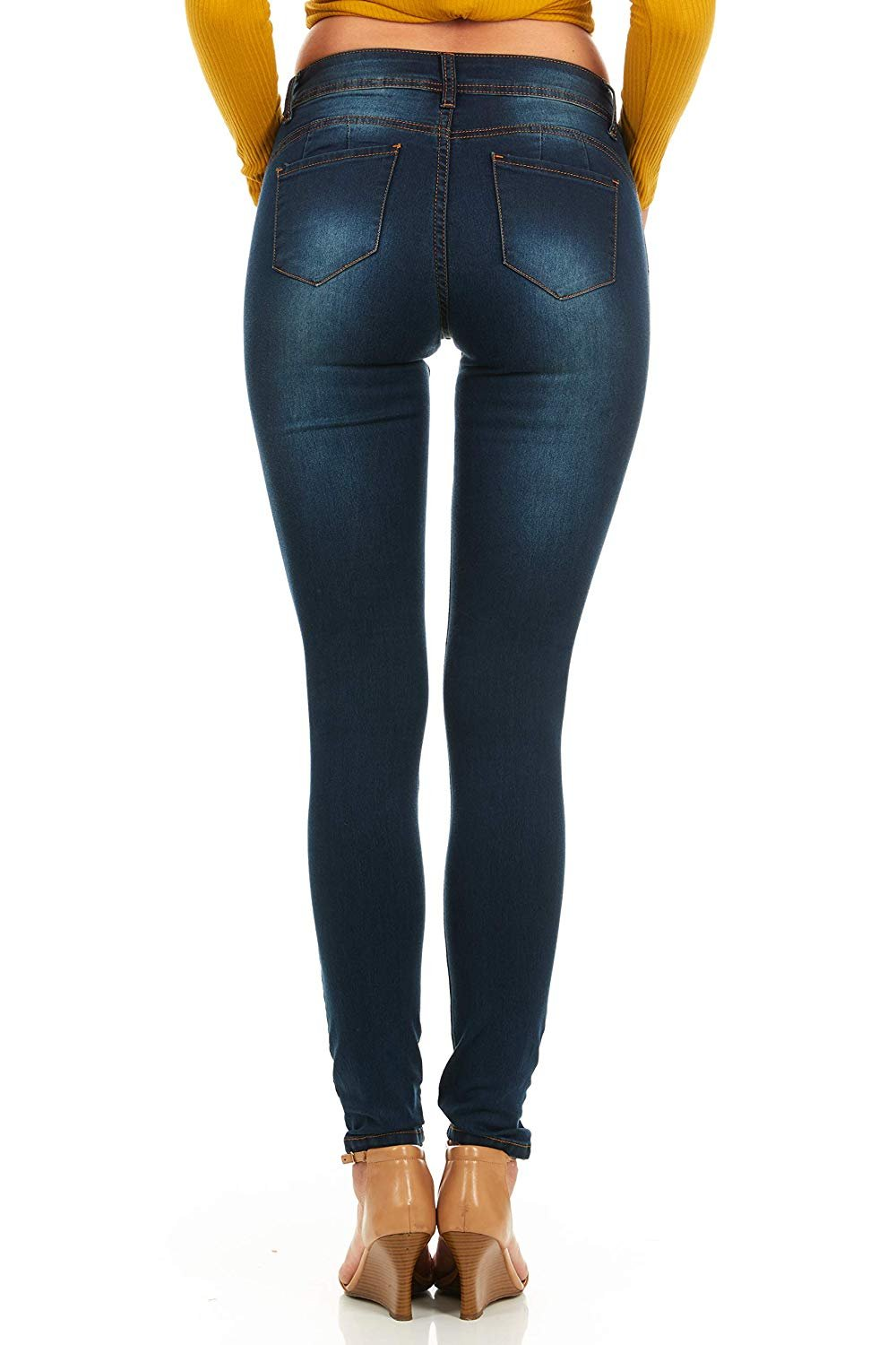 87ed0c995dc5 YDX Jeans - Cover Girl Jeans Women Juniors Mid Rise Slim Fit Stretchy  Skinny Jeans 4 Options - Walmart.com