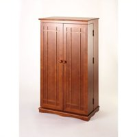 "Leslie Dame 40"" CD DVD Wall Media Storage Cabinet in Walnut"