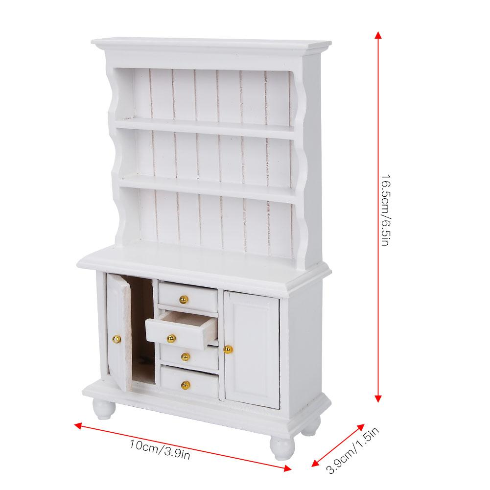 1:12 Simulation Miniature Doll House Bookshelf Accessory Bookcase Furniture Toy