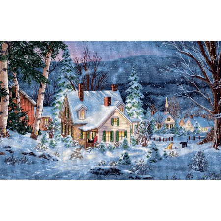 Dimensions Gold Collection Winter's Hush Counted Cross Stitch Kit, 20